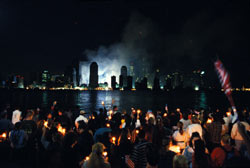 """Jersey City Candlelight Vigil, 09/14/01"""